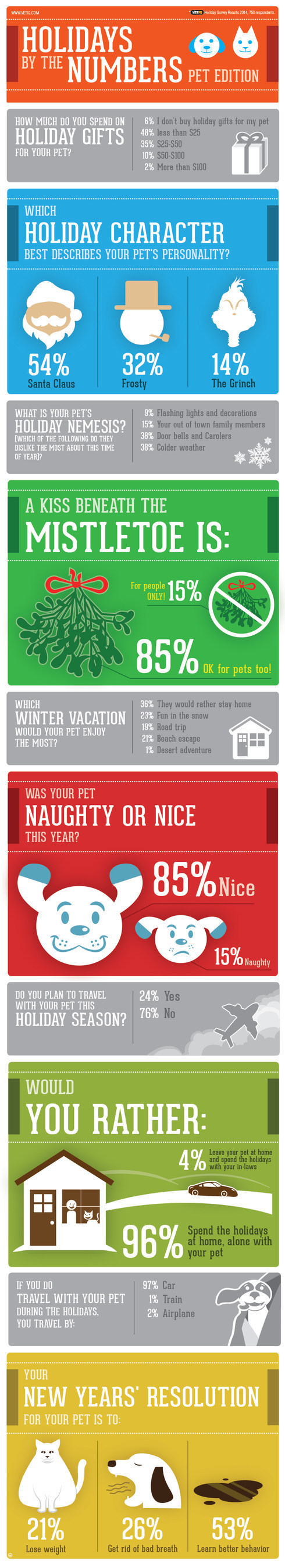 Holidays by the Numbers - Pet Edition (VetIQ Survey Results)