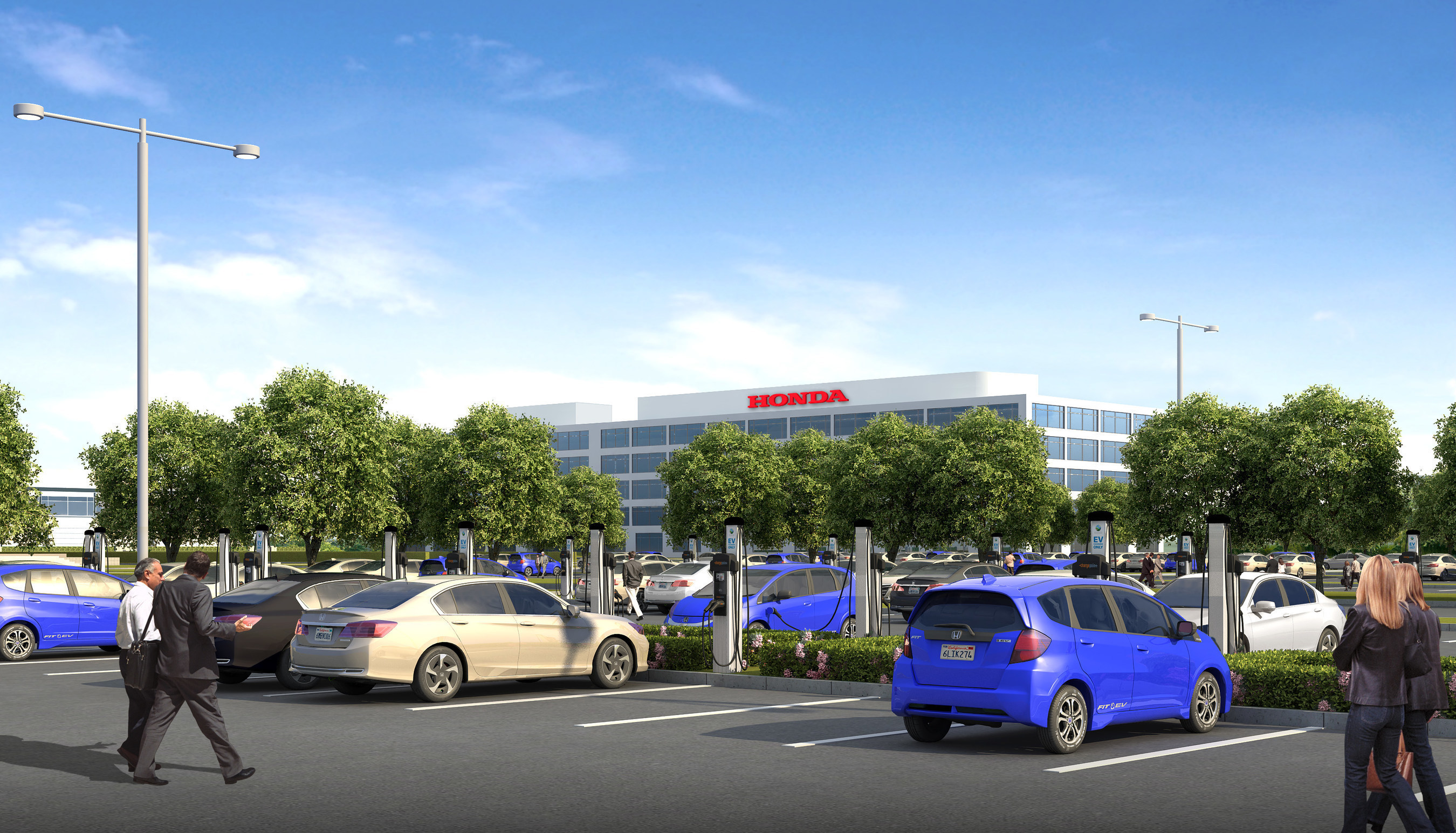 Honda is installing 120 EV chargers at the Torrance, CA headquarters of American Honda.