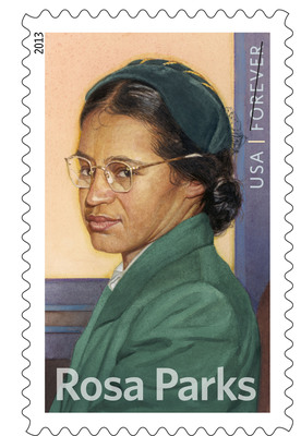 Civil Rights icon Rosa Parks Honored on Forever Stamp on Sale Today at Post Offices nationwide and online at usps.com/stamps.  (PRNewsFoto/U.S. Postal Service)