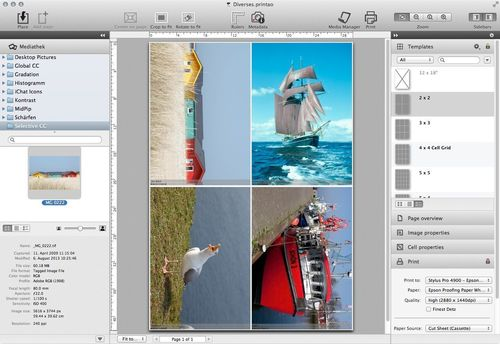 PrinTao 8 Professional Printing Software, Professional and Color Consistent Printing with PrinTao® 8 and Epson® Stylus Large Format Printers (PRNewsFoto/LaserSoft Imaging AG)