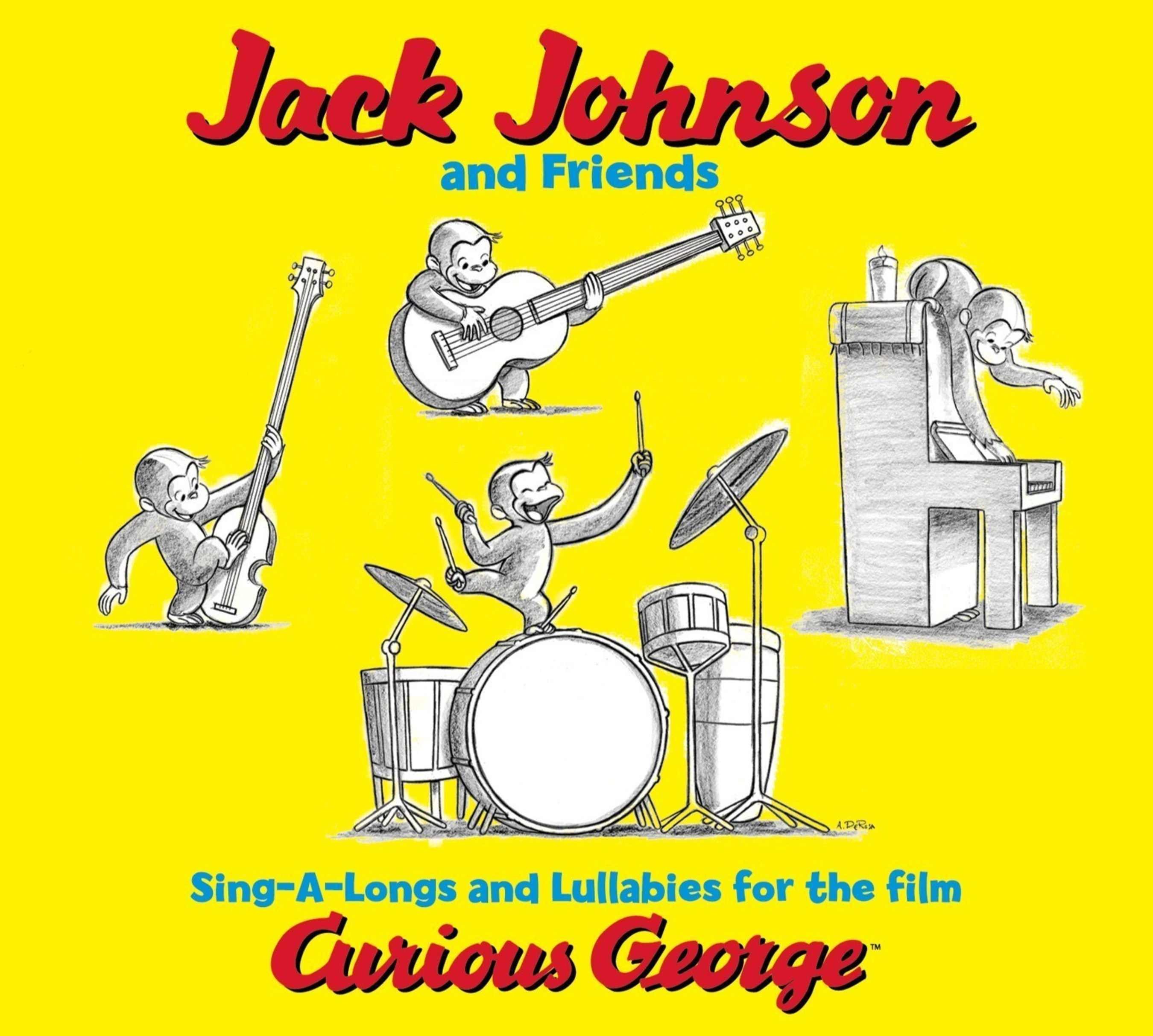 Brushfire/Republic/UMe Announces The First Time Vinyl Release Of 'Jack Johnson And Friends Sing-A-Longs And Lullabies For The Film Curious George'
