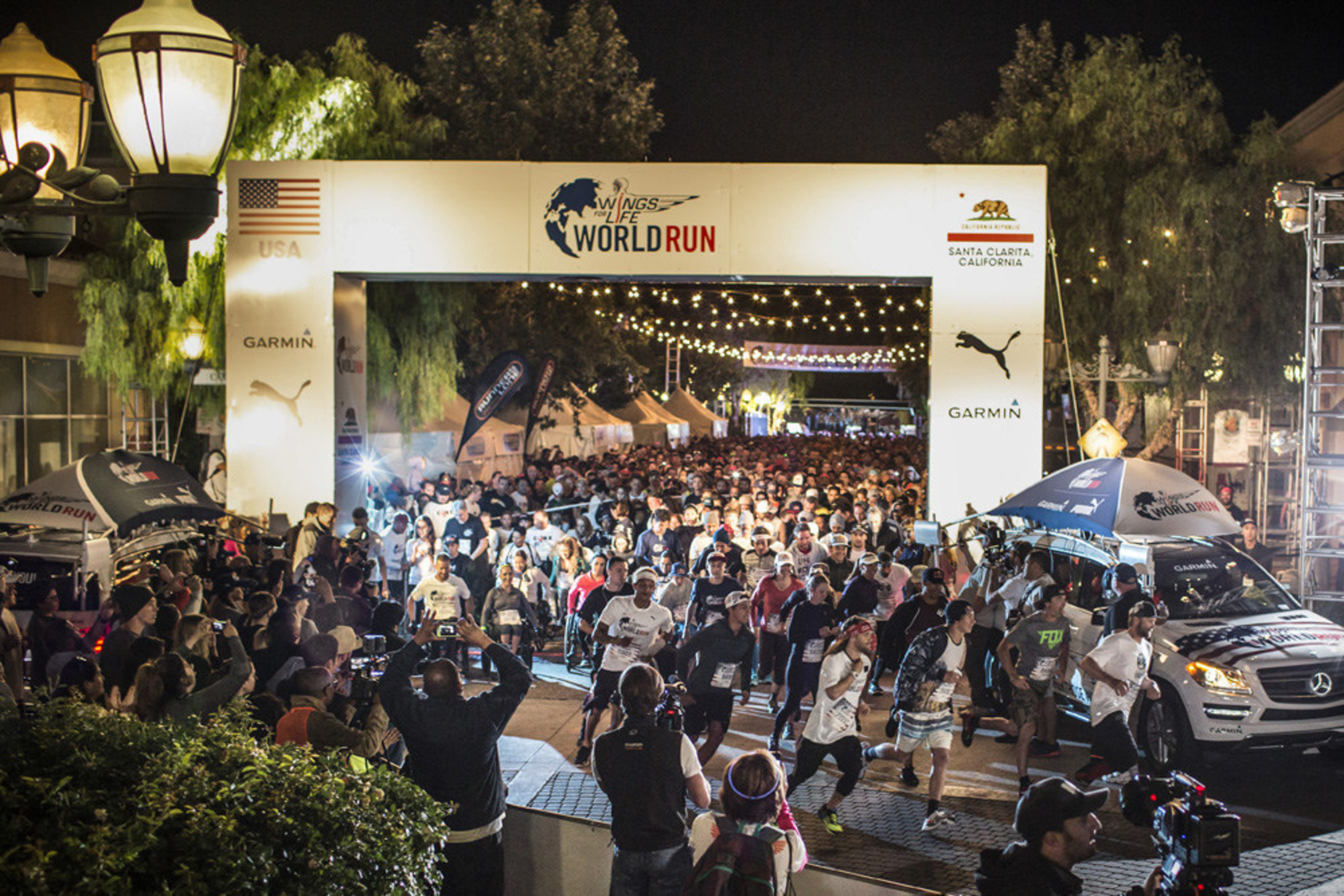More than a thousand runners in the Wings for Life World Run take off in Santa Clarita, Calif. on May 3, 2015.  The next run is confirmed for May 8, 2016, with all proceeds dedicated to spinal cord injury research.