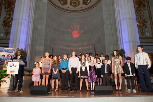 Pediatric cancer patients and the Children's Chorus of Washington at Hyundai Hope On Wheels September ...