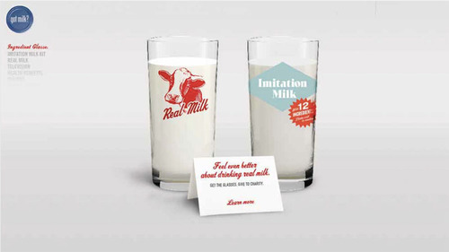 GOT MILK? Gives Helping Hand With Glasses Sale
