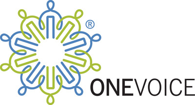 OneVoice logo.  (PRNewsFoto/The OneVoice Movement)