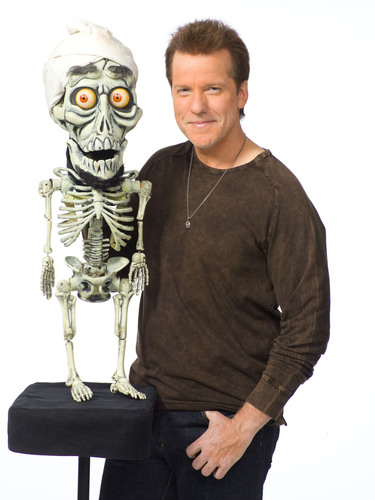 Comedian and Ventriloquist Jeff Dunham, pictured with one of his signature characters, the bumbling skeletal ...