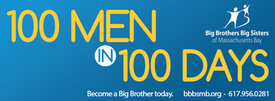 Big Brothers Big Sisters of Massachusetts Bay (BBBSMB) puts the call out for 100 Men in 100 Days, urging males in the Greater Boston community to become a Big Brother. Visit www.bbbsmb.org for more information.  (PRNewsFoto/Big Brothers Big Sisters of Massachusetts Bay)