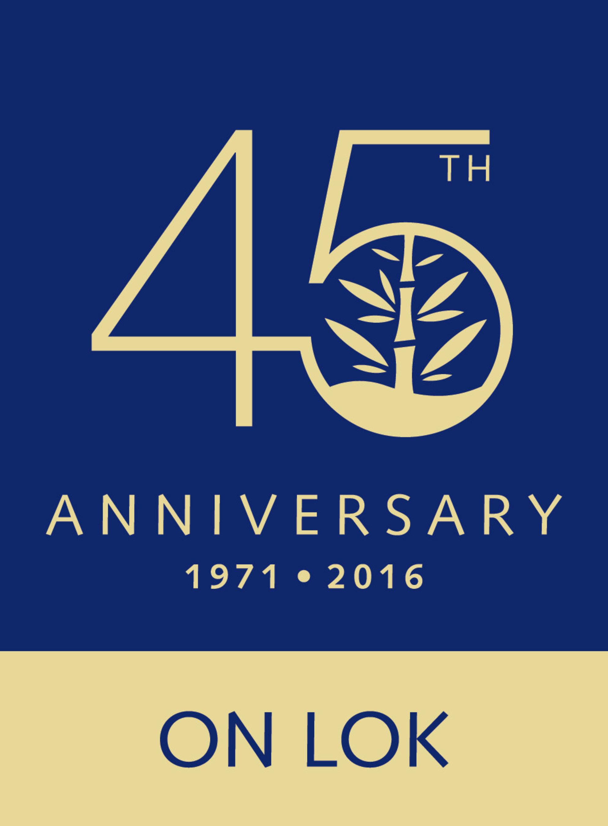 On Lok 45th Anniversary Logo
