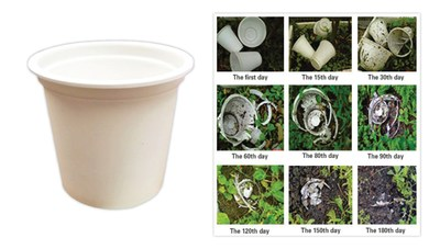 White Coffee Corporation's latest development, BioCup(TM) is the first to capture the ecological niche for biodegradable pods. BioCup(TM) is both compostable and biodegradable with 90% degradation after six months.