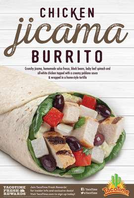 Try TacoTime's Chicken Jicama Burrito, available through August 30.