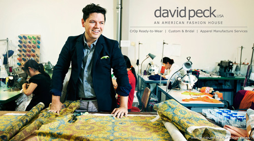 Designer David Peck unveils his American Fashion House in Houston's Upper Kirby Neighborhood.  (PRNewsFoto/David Peck USA)