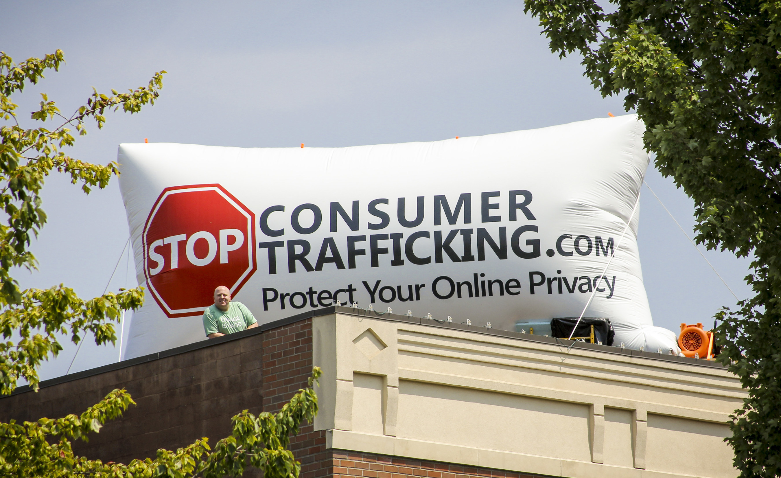 STOP Consumer Trafficking's Jason Gaylord enters second week of 31 day vigil