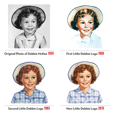 Subtle changes give the Little Debbie logo a new look for the third time since the brand was introduced in 1960.  (PRNewsFoto/McKee Foods)
