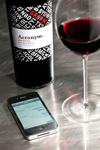 Inspired by modern technology and communication Acronym Great Red Wine is a blend of primarily Pinot Noir and Syrah. The wine is made for good food and fun friends. It is a perfect partner to sausage or cheese appetizers, and will enhance anything on the grill. www.AcronymWines.com.   (PRNewsFoto/Winery Exchange)