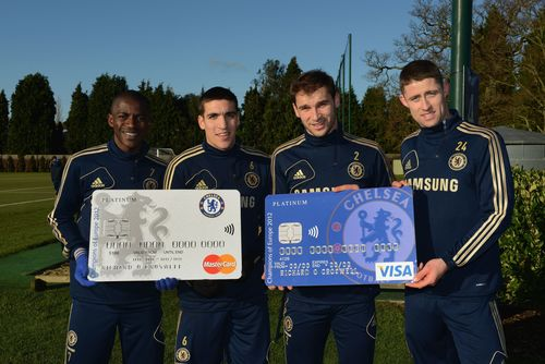Chelsea FC stars launch improved Chelsea FC credit card offer for new customers (PRNewsFoto/MBNA Limited)