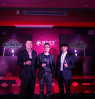Ray Lui, Honorary Chairman of Touchmedia and Micky Fung, Founder & CEO, together with Bernard Auyang, Executive Director & Co-CEO of Touchmedia are toasting for 2012  (PRNewsFoto/Touchmedia)