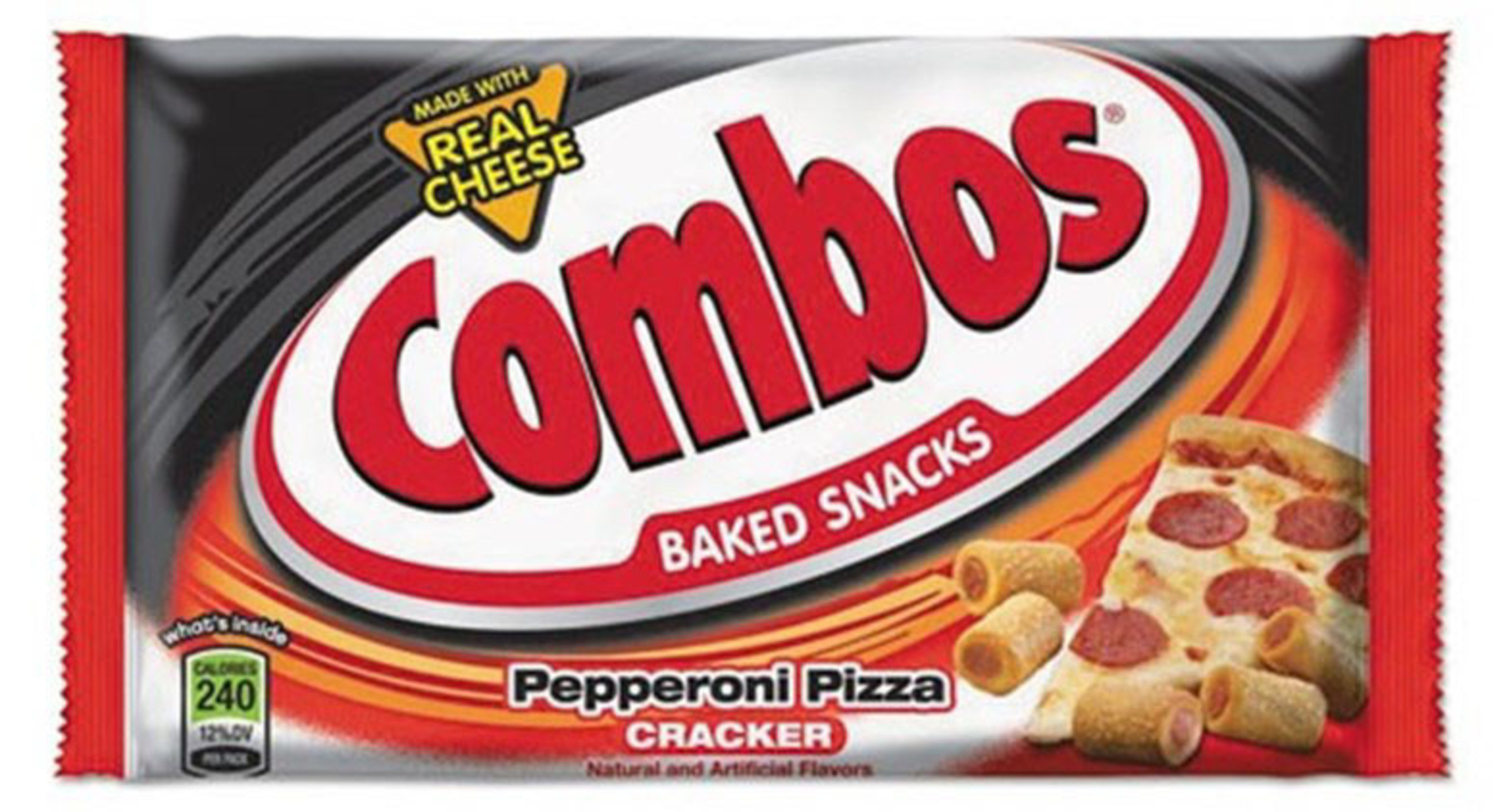 COMBOS PEPPERONI PIZZA CRACKER - SINGLES - 1.70 OZ - 18 CT - 12/CA