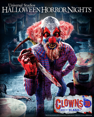 "Grammy Award Winner and Rock and Roll Hall of Fame Guitarist, SLASH, Strikes a Chord at Universal Studios Hollywood, Composing First-Ever Original Score for Theme Park's Gripping New ""Halloween Horror Nights"" Maze, ""Clowns 3D Music by SLASH."""