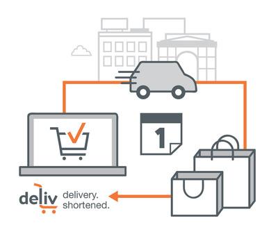 Same-day delivery service Deliv announces $6.8M funding from investors in Starbucks, Costco and Ulta. (PRNewsFoto/Deliv)