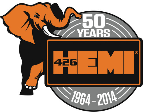 Mopar celebrates 50th anniversary of iconic 426 Gen II Race HEMI in 2014.  (PRNewsFoto/Chrysler Group LLC)