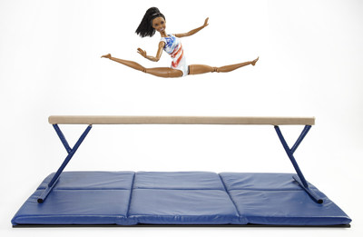 "Barbie honors Gabby Douglas, 2016 U.S. Olympic Gymnastics team member and two time 2012 Olympic gold medalist, with a one-of-a-kind Barbie doll in her likeness for inspiring girls. Douglas is honored as the most recent Barbie ""Shero,"" a female hero inspiring the next generation of girls that they can be anything."