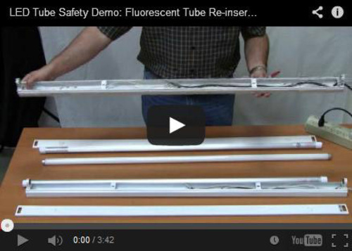 Fluorescent Tube Reinsertion Video - http://www.youtube.com/watch?v=hYRa1hh9tvo.  (PRNewsFoto/Aleddra LED Lighting)