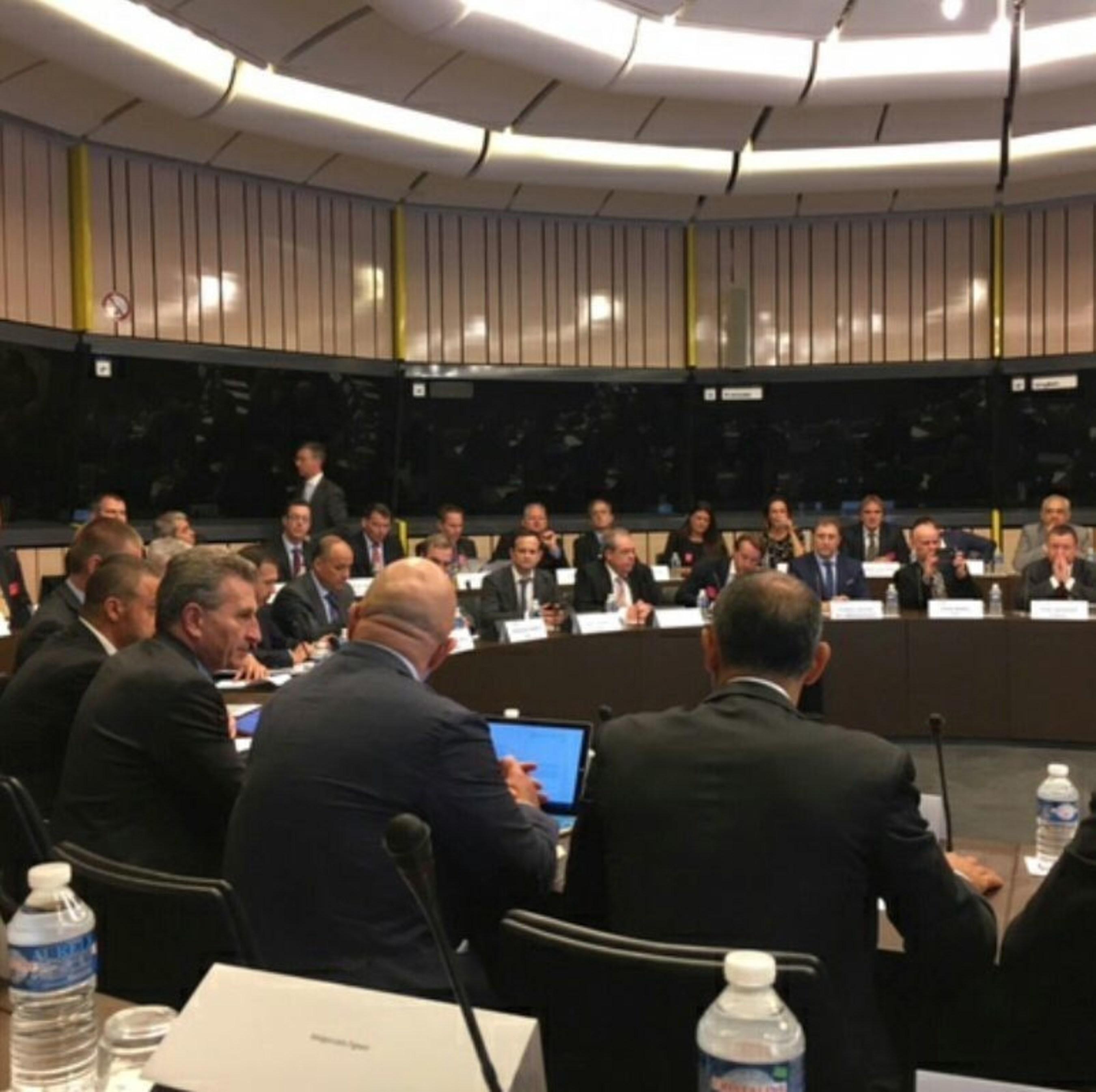 Delegates including Xavier Mitxelena, CEO, S21sec, at the ceremony (PRNewsFoto/S21sec)