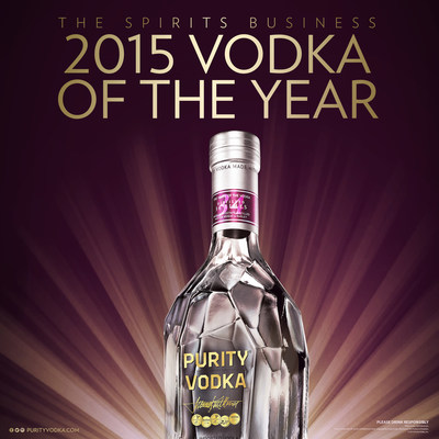 Purity Vodka was announced the 2015 Grand Vodka Master at the Grand Spirits Masters ceremony, earning its fifth consecutive title.