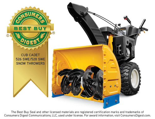 Consumers Digest Awards A Best Buy Rating To Cub Cadet® Snow Throwers