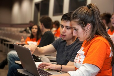 Students receive online mentoring to help get them to college