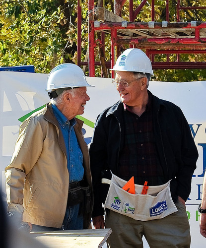 President Carter and Vice President Mondale Volunteer Together During Habitat for Humanity's 'Jimmy