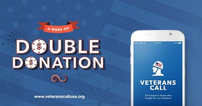 Pioneering Giving App Veterans Call Celebrates Independence Day with Double Donation Initiative; Award-winning Actor J.W. Cortes Launches Campaign That Asks All Americans to Support Service Members This Fourth Of July