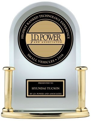 Hyundai Tucson tops respective segment in J.D. Power Tech-Experience study