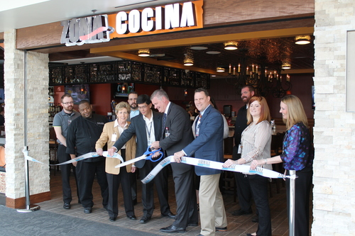 Fiesta! Grand opening of Zona Cocina restaurant at AIRMALL at BWI Marshall Airport celebrated on Cinco de Mayo. (PRNewsFoto/AIRMALL USA)