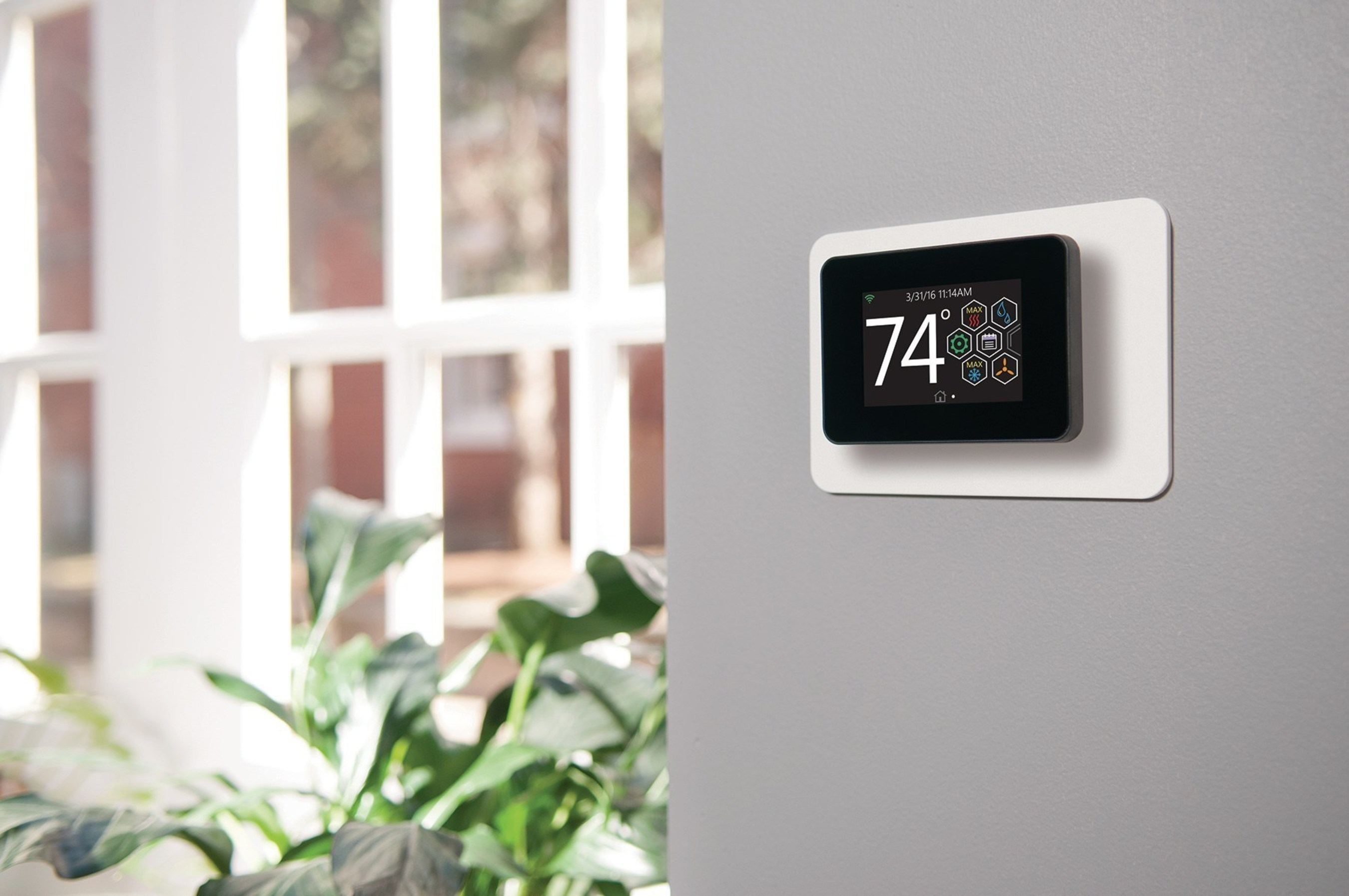 New Johnson Controls YORK(R) touch-screen thermostat seamlessly connects homeowners to their home comfort systems.