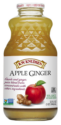 Just in time for spring, R.W. Knudsen Family(R) announces the national launch of its Apple Ginger juice blend, a combination of real ginger puree and apple juice in a crisp, refreshing beverage. Apple Ginger juice blend is now available nationwide at select natural and conventional retailers.