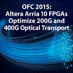 Booth #413. Altera will demonstrate how standards-based OTN solutions reduce time-to market for optical equipment manufacturers and high-capacity transport networks with a path to 1Tb.