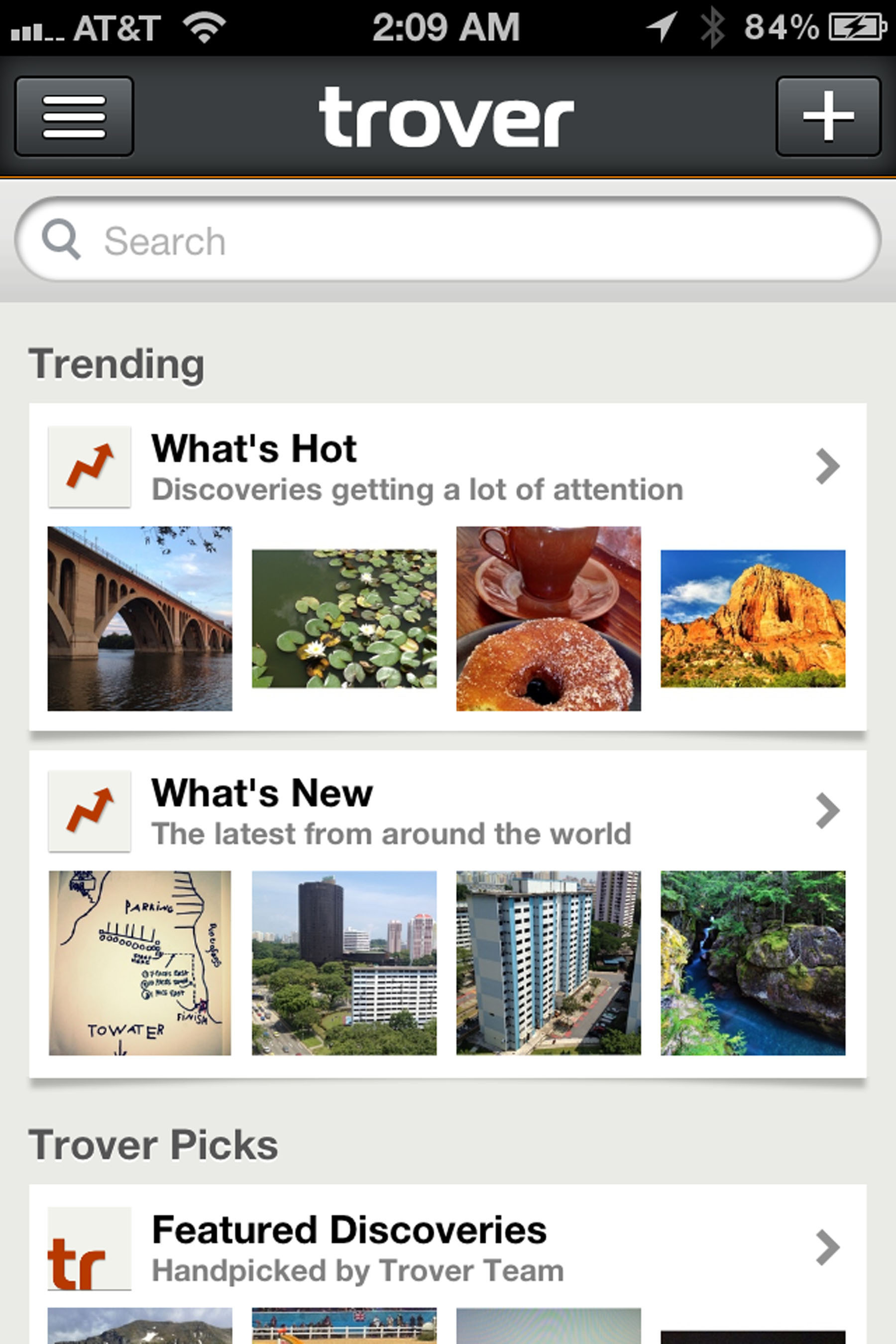 Trover adds lists, full-screen browsing and smarter search to make discoveries entertaining.  (PRNewsFoto/Trover Inc.)