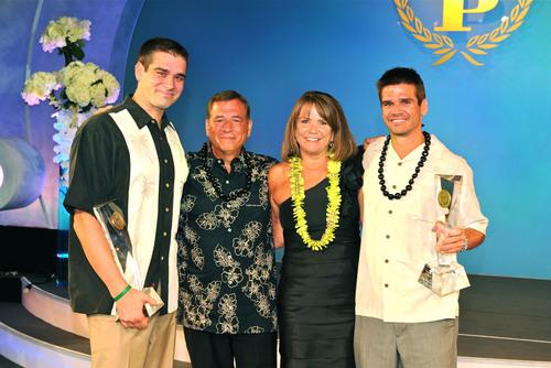 Wolk Family--L to Rt--Ryan Wolk, Robert Wolk, Linda Wolk, and Matt Wolk.  (PRNewsFoto/Farmers Insurance)