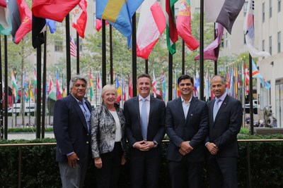 (left to right): Dr. Gilbert Canton, CEO, Belize Natural Energy (BNE); Susan Morrice, Chairperson, BNE; Josh Stewart, Founder & CEO of XJet and BNE Board Member; Gilbert Canton Jr., Engineer in Business Development Unit, BNE; Ali Alnaqbi, Founding Chairman of MEBAA