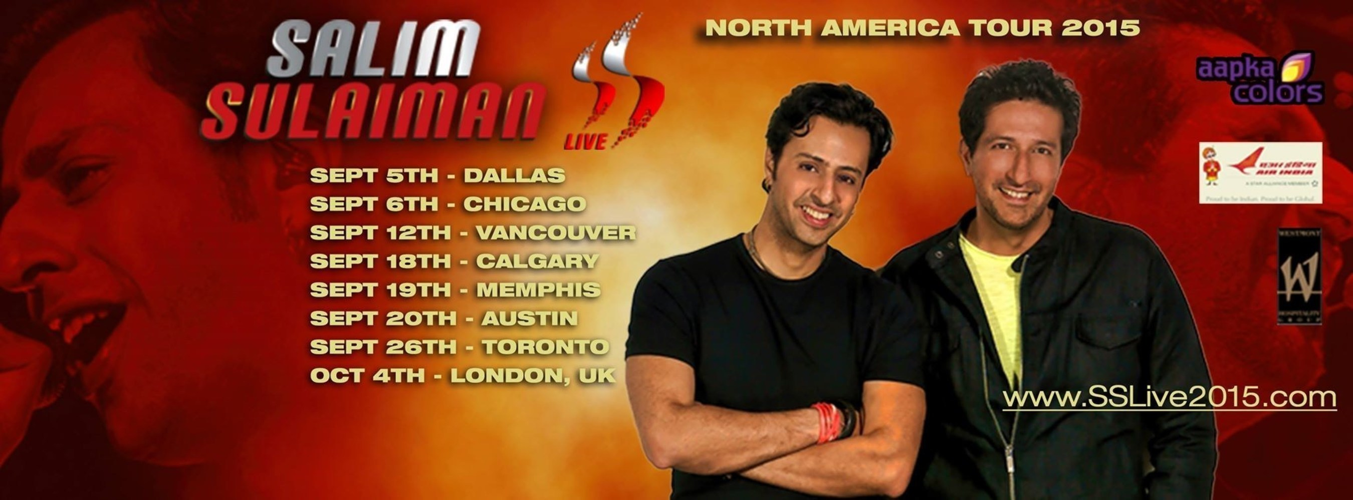 Air India announced as official airline of the Salim Sulaiman North American Tour 2015