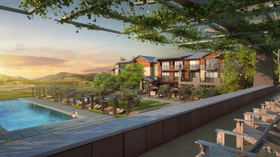 The SB Architects-designed resort, set in the Temecula foothills.