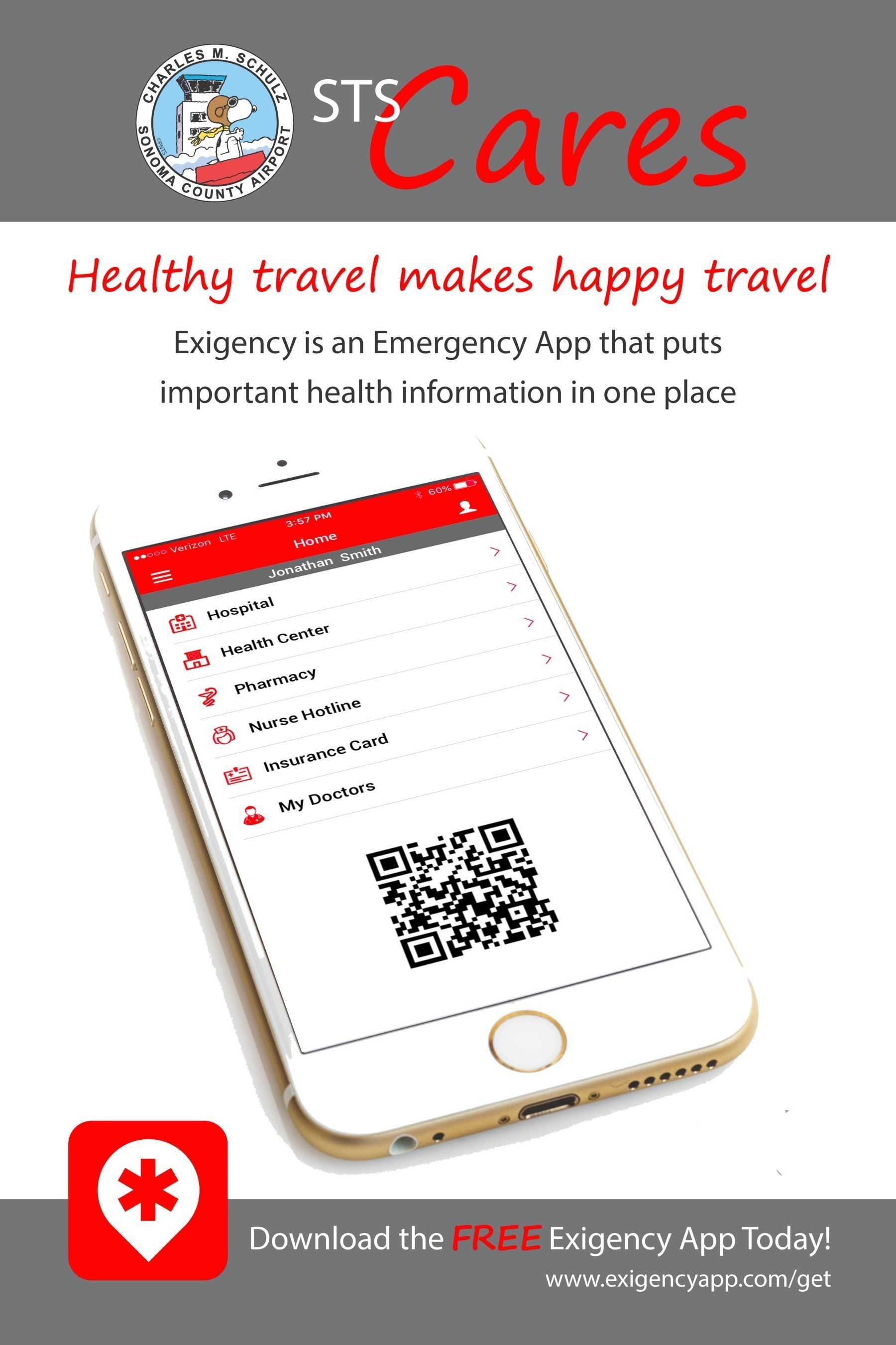 Charles M. Schulz - Sonoma County Airport First to Launch Holiday Promotion with Health and Travel App