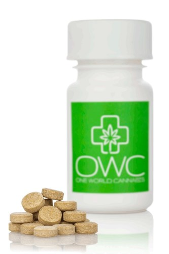 Cannabinoids-enriched soluble tablets for sublingual use. It's a Smoke-Free alternative for patients using medical cannabis (PRNewsFoto/OWC Pharmaceutical Research Corp)