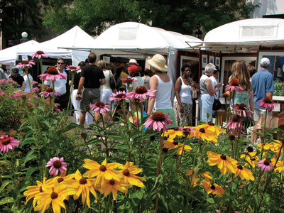 The Cherry Creek Arts Festival takes place July 2-4 in Denver, CO.