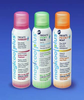 Magicool Plus® Medical Sprays RangeTags Healthcare themed.