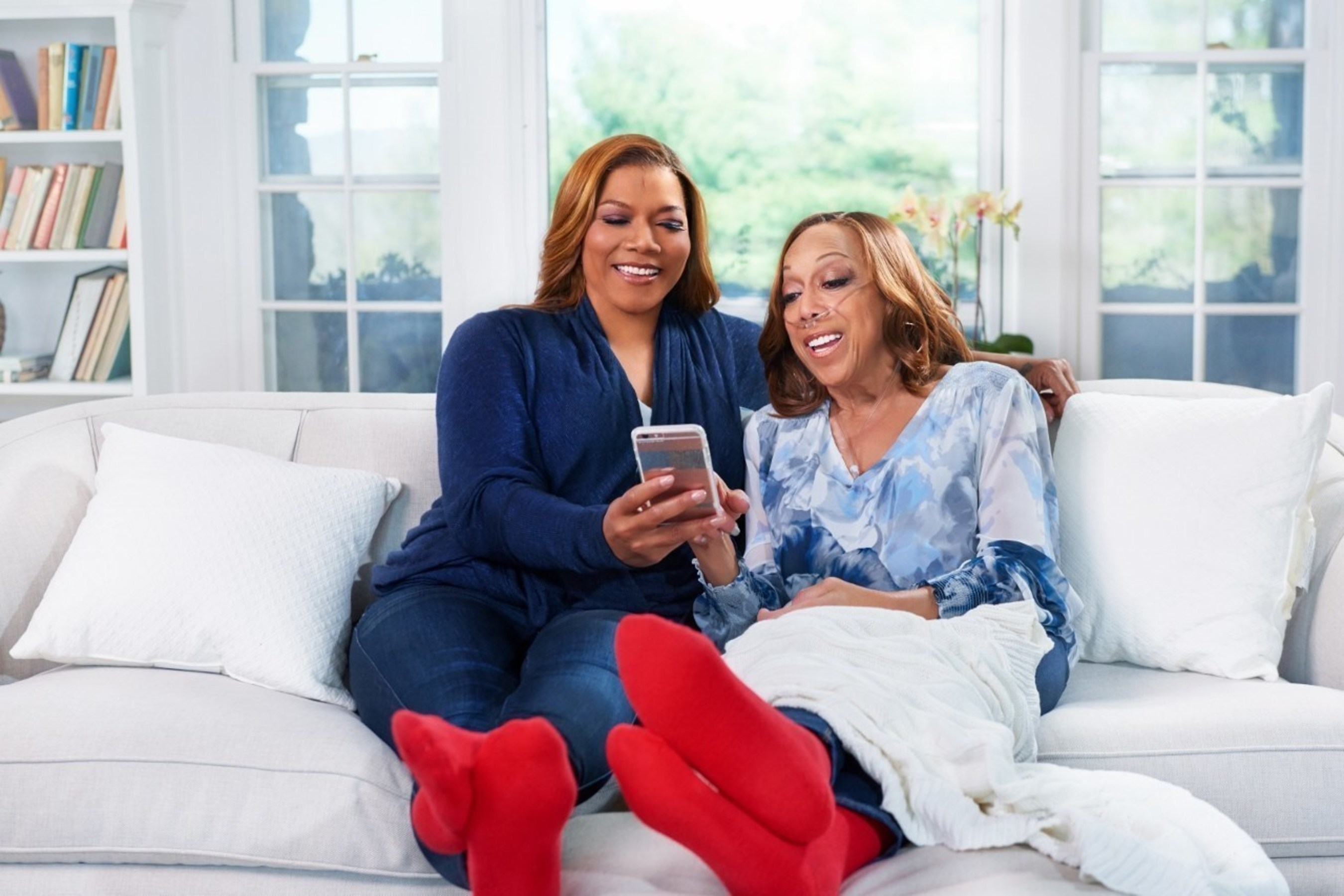 Queen Latifah and her mother, Rita Owens, join the American Heart Association's Red Step Challenge to raise awareness about heart failure