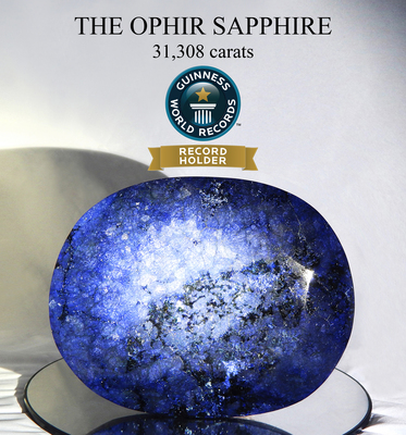 World's Largest Faceted Sapphire - Guinness World Records (PRNewsFoto/Ophir Collection, LLC)