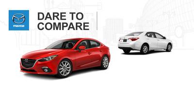 Ingram Park Mazda compares its 2014 Mazda3 to the 2014 Toyota Corolla. (PRNewsFoto/Ingram Park Mazda)
