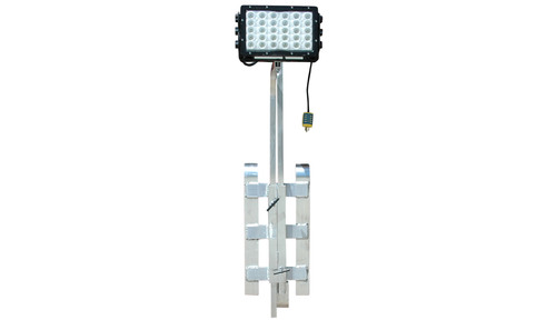 The WAL-JH-150LED-120/277V LED work area light fixture from Magnalight produces 14,790 lumens of light capable of illuminating an area 18,000 square feet in size. Weather proof and IP68 rated waterproof, this powerful LED fixture comes attached to an aluminum rail/ladder mount bracket that allows operators to easily mount this unit to ladders, handrails, catwalks and other similar structures.  (PRNewsFoto/Larson Electronics)